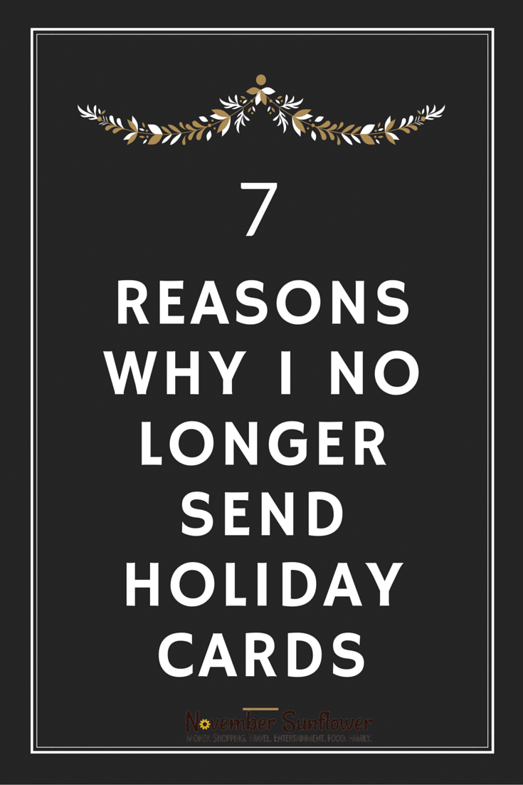 7 Reasons why I no longer send holiday cards #holidaycards #holidays #chosenchixhop