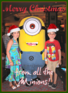 Merry Christmas from the minions #minions #christmas #holidays