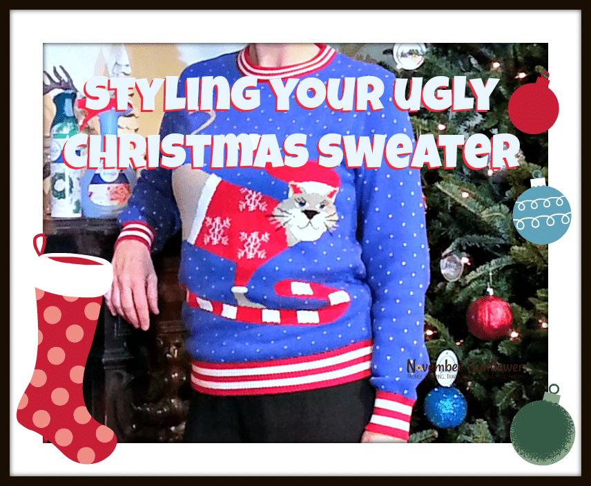 Styling your ugly Christmas sweater #christmas #holidays #uglysweater