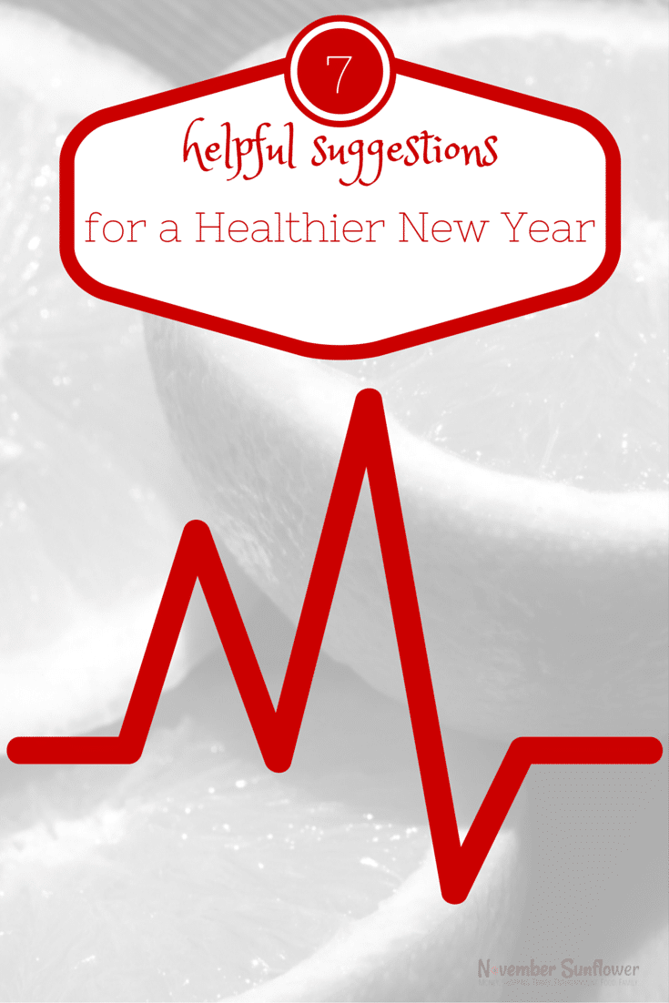Healthier New Year 7 helpful suggestions #newyear #health #newyeargoal [ad]