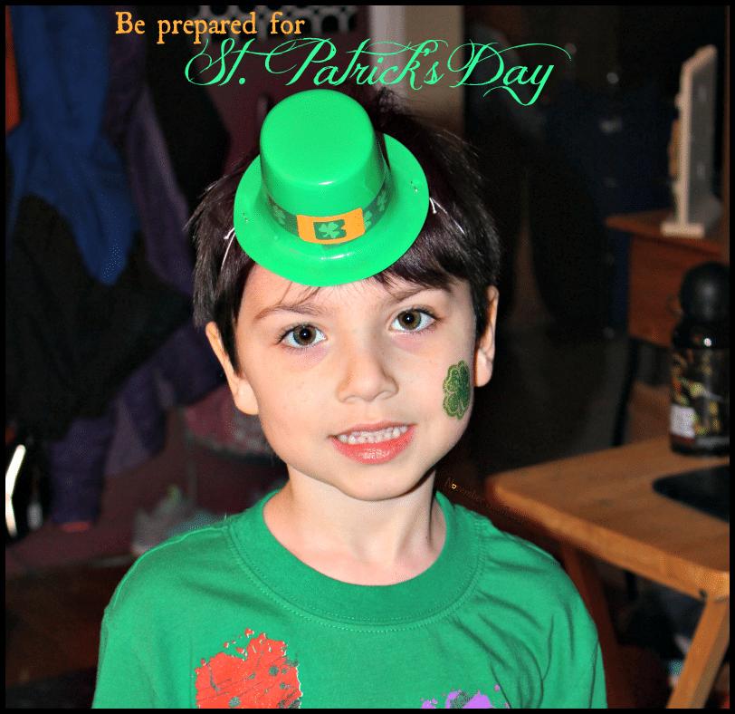 Be prepared for St. Patrick's Day #beprepared #stpatricksday #stpattysday #stpaddysday