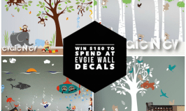 Win $150 to spend at Evgie Wall Decals Giveaway #giveaway #evgie #walldecals