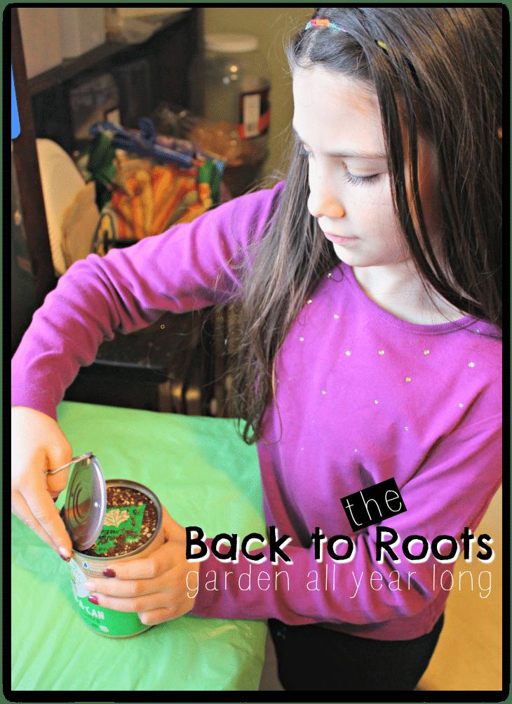 Back to the Roots Garden All Year #backtotheroots #gardeninacan #garden #springgarden