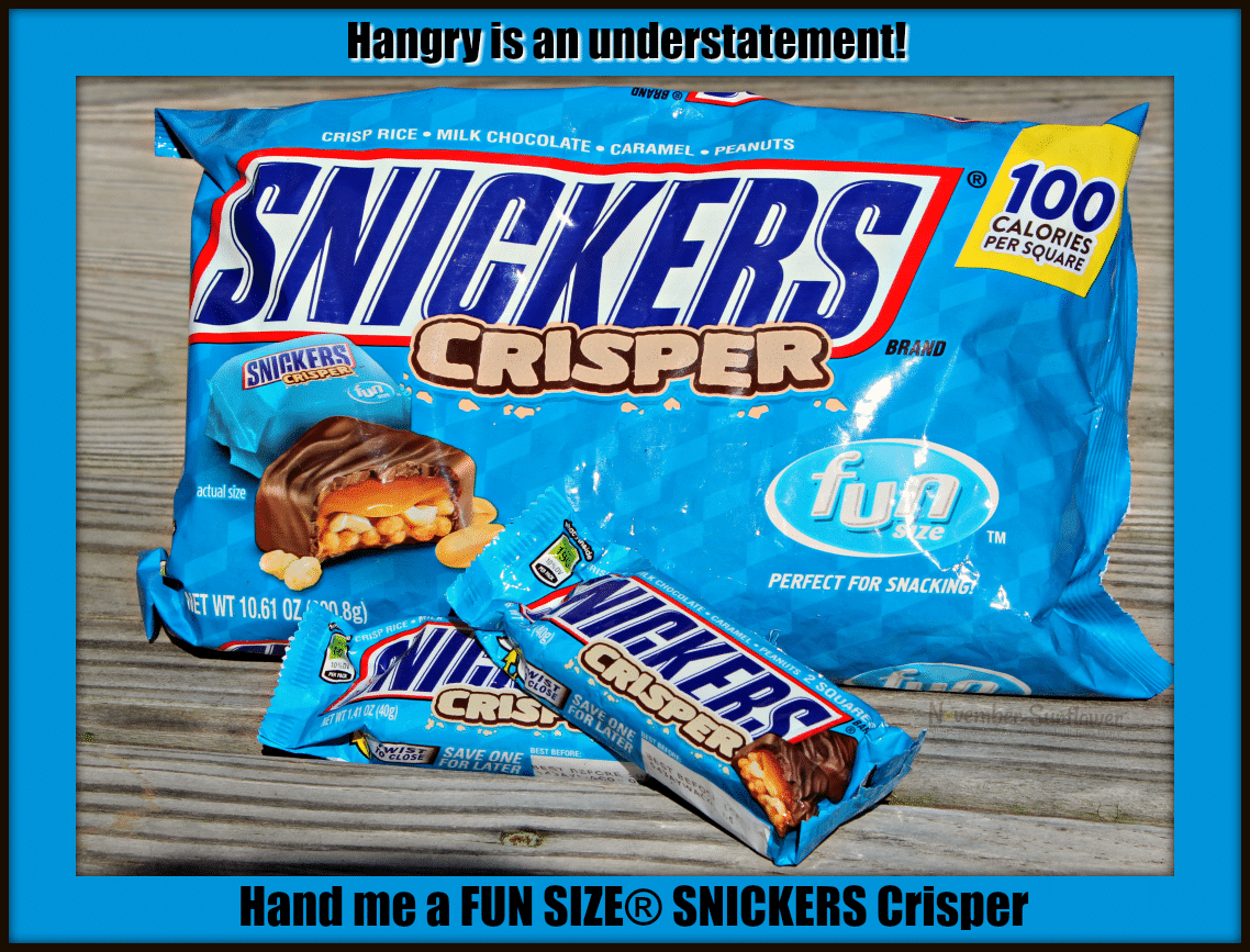 Hangry is an understatement! Hand me FUN SIZE SNICKERS Crispers #hangry #snickers #satisfaction [sponsored]