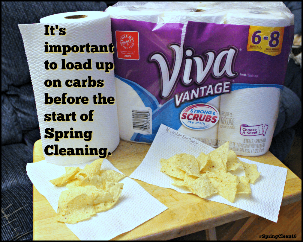Gotta carb load before you start your spring cleaning with Viva Paper Towels #SpringClean16 #walmart [ad]