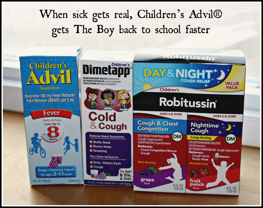 When sick gets real, Children's Advil® gets The Boy back to school faster SickJustGotReal sponsored