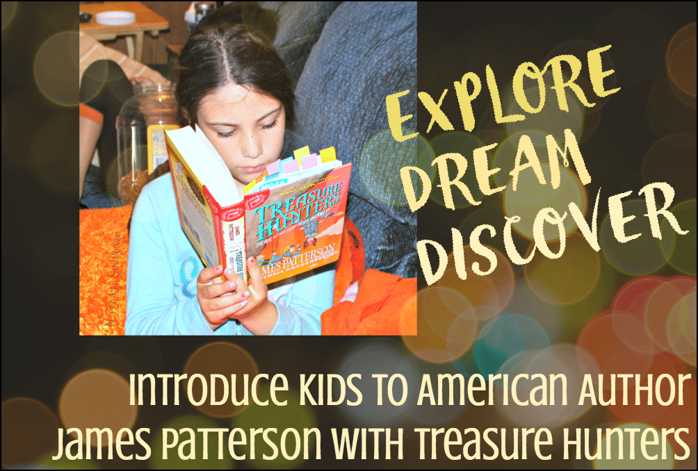 Introduce kids to American Author James Patterson with Treasure Hunters [sponsored]