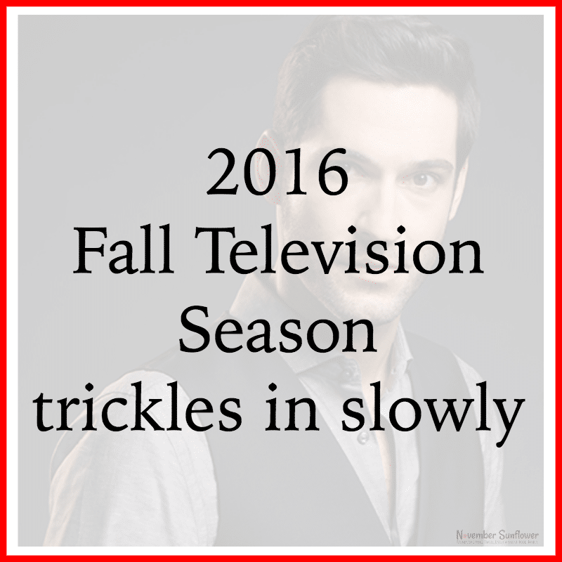 2016 Fall Television Season trickles in slowly FiOSNY