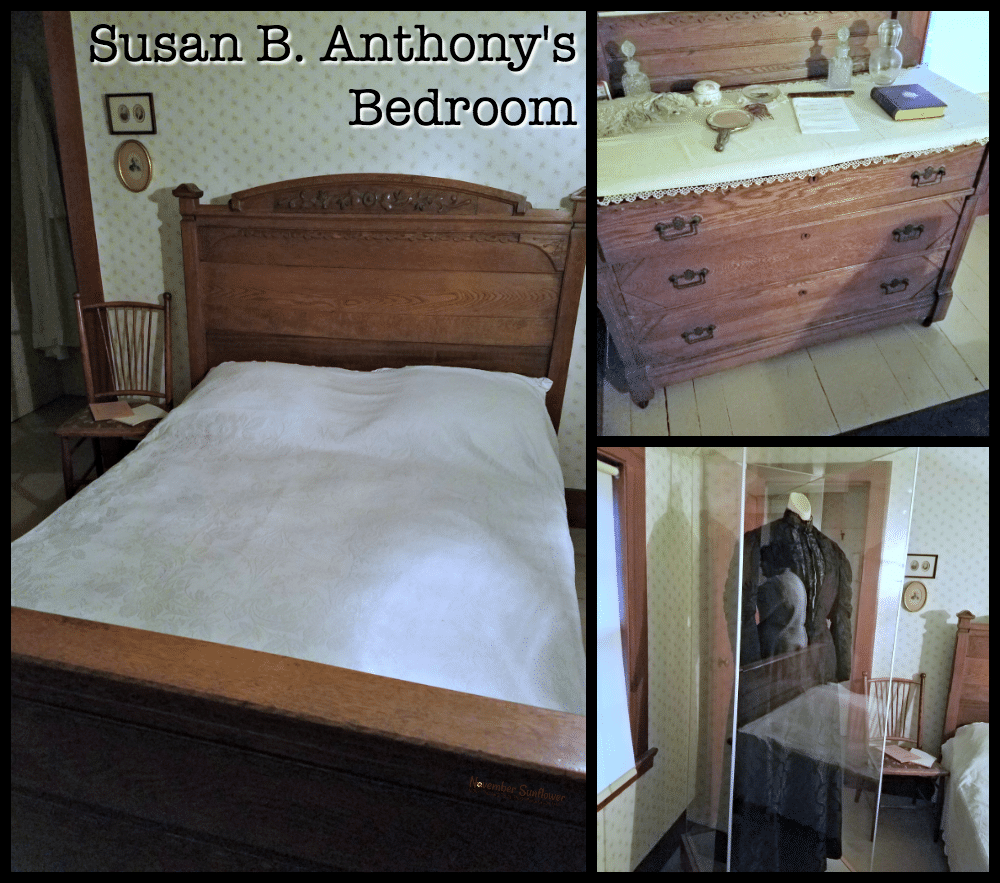 Legendary Susan B Anthony laid her head to rest in this very room.