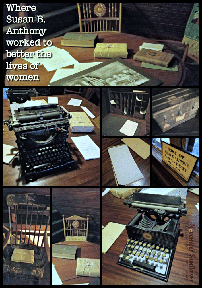 Susan B Anthony worked tirelessly to improve the lives of women in this attic office.