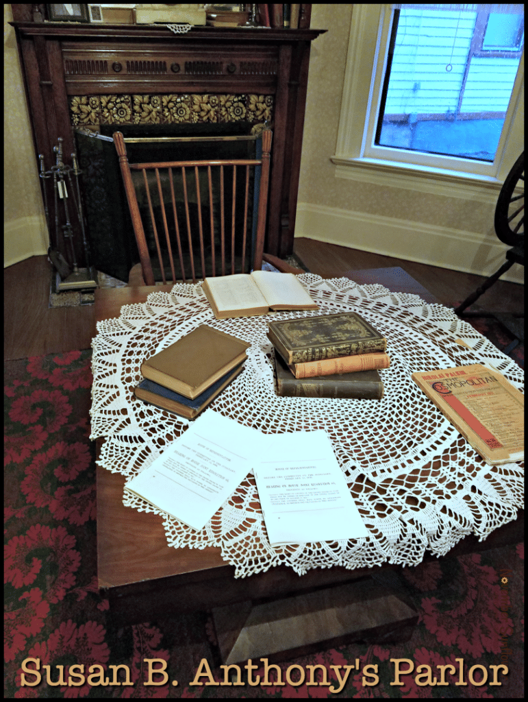 Susan B Anthony's parlor where she met guests and was arrested.