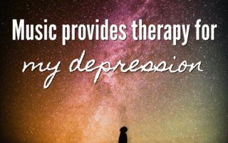 Music provides therapy for my depression