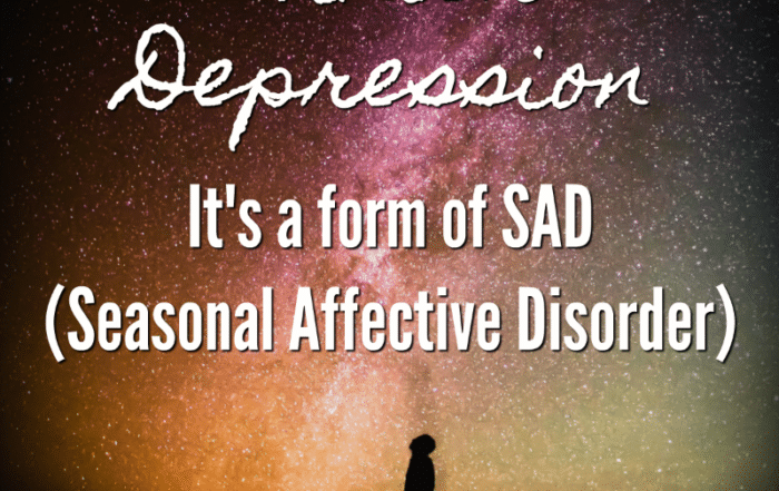 Winter Depression It's a form of SAD (Seasonal Affective Disorder)