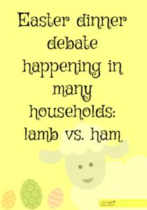 Easter dinner debate happening in many households: lamb vs. ham