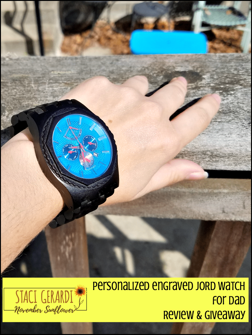 Personalized engraved JORD Watch for Dad Review & Giveaway