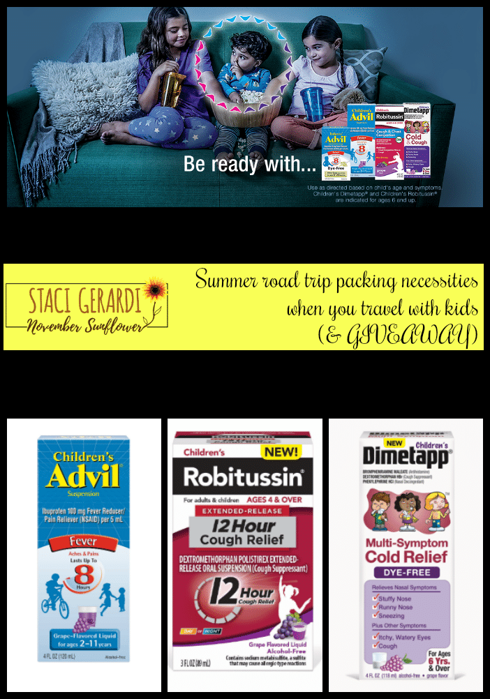 Summer road trip packing necessities when you travel with kids