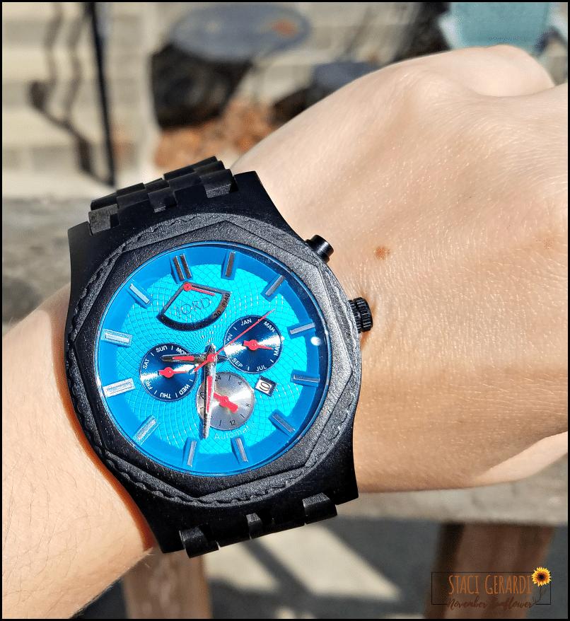 Sawyer Series Ebony & Ultramarine JORD Wood Watch for your man
