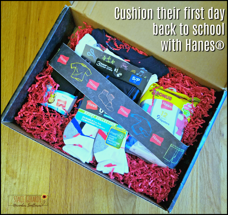Cushion their first day back to school with Hanes