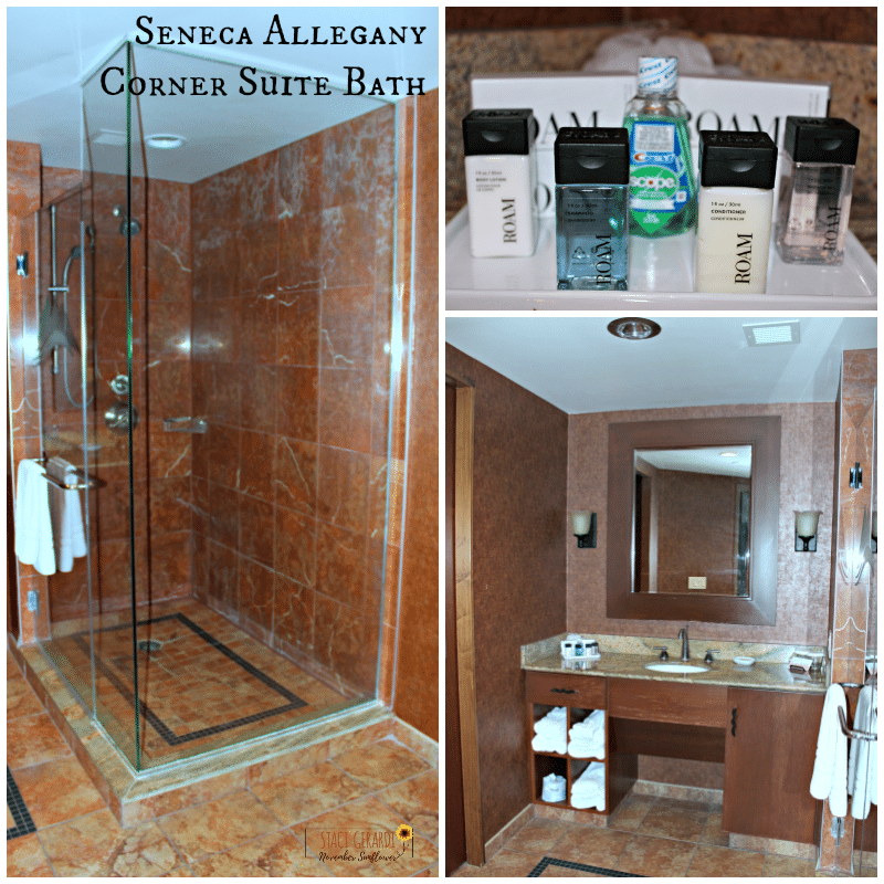 Seneca Allegany Corner Suite Bath