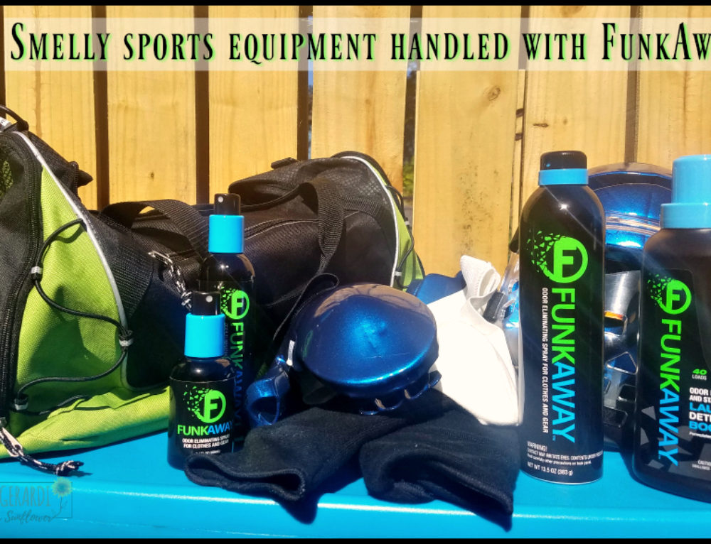 Smelly sports equipment handled with FunkAway