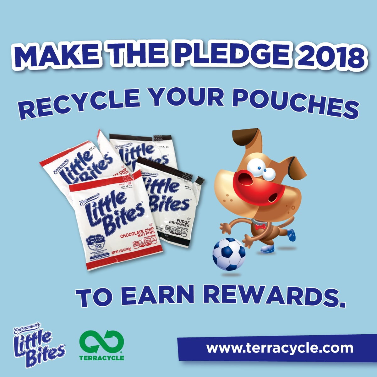 earn rewards by recycling little bites pouches
