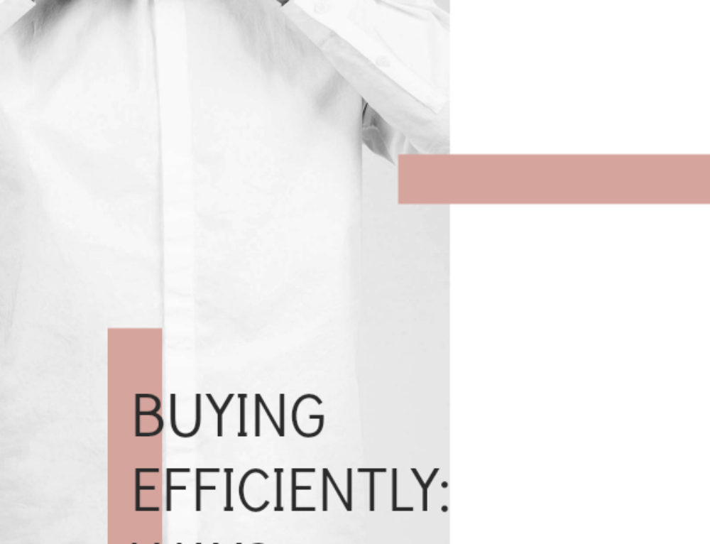Buying efficiently: ways you're wasting money on clothing