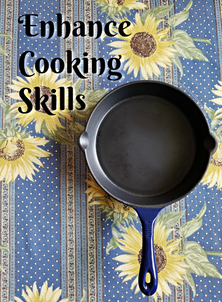 Enhance Cooking Skills Cast Iron Pan