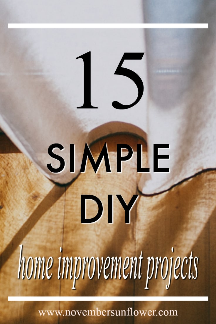 simple diy home improvement projects