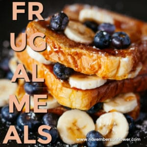 frugal meals for the family