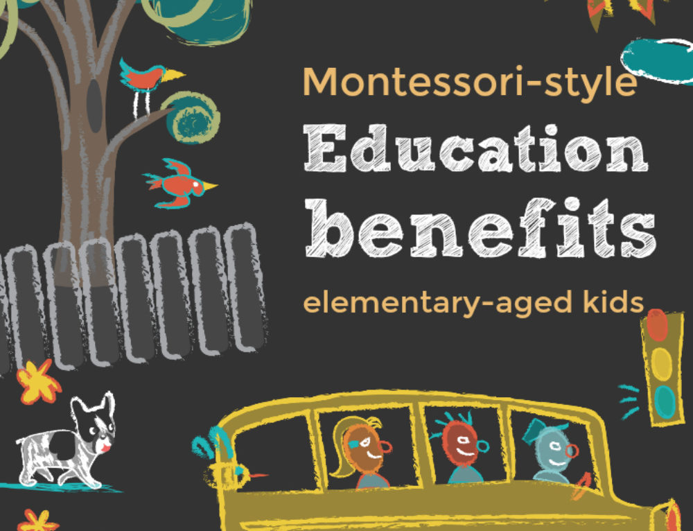 Montessori-style education benefits for elementary-aged kids