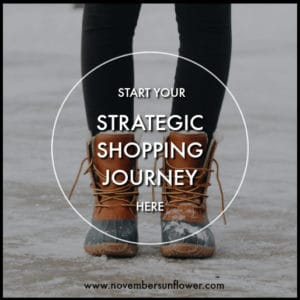 start your strategic shopping journey here