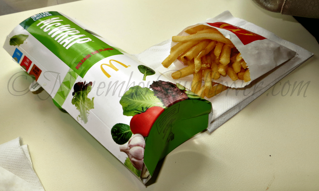 McDonald's McWrap with Fries