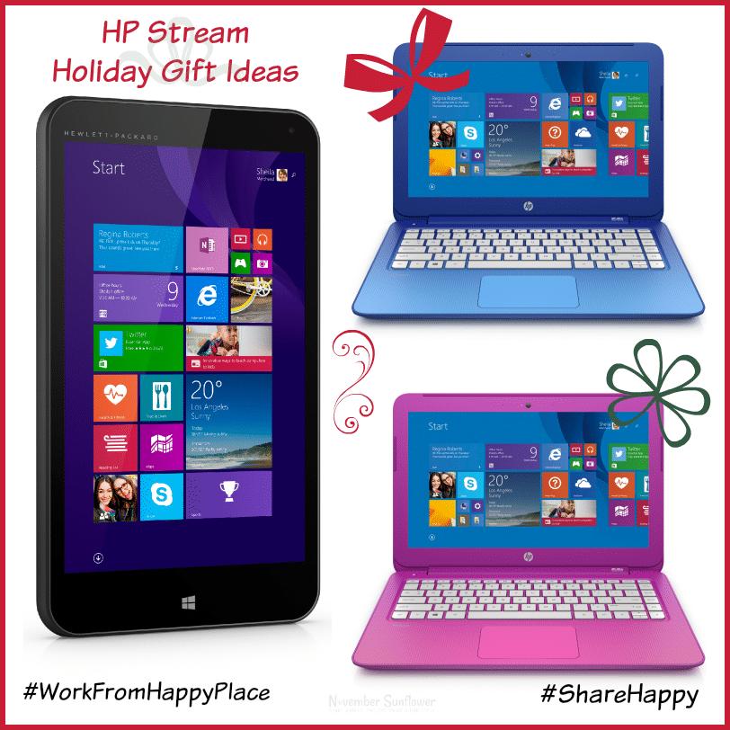 HP Stream holiday gift ideas #hpstream #sharehappy #workfromhappy #sponsored #kidzvuz