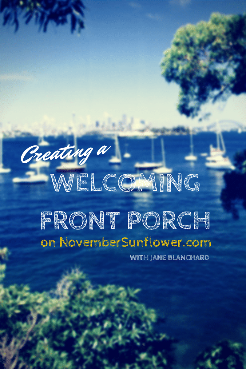 creating a welcoming porch #DIY #forthehome