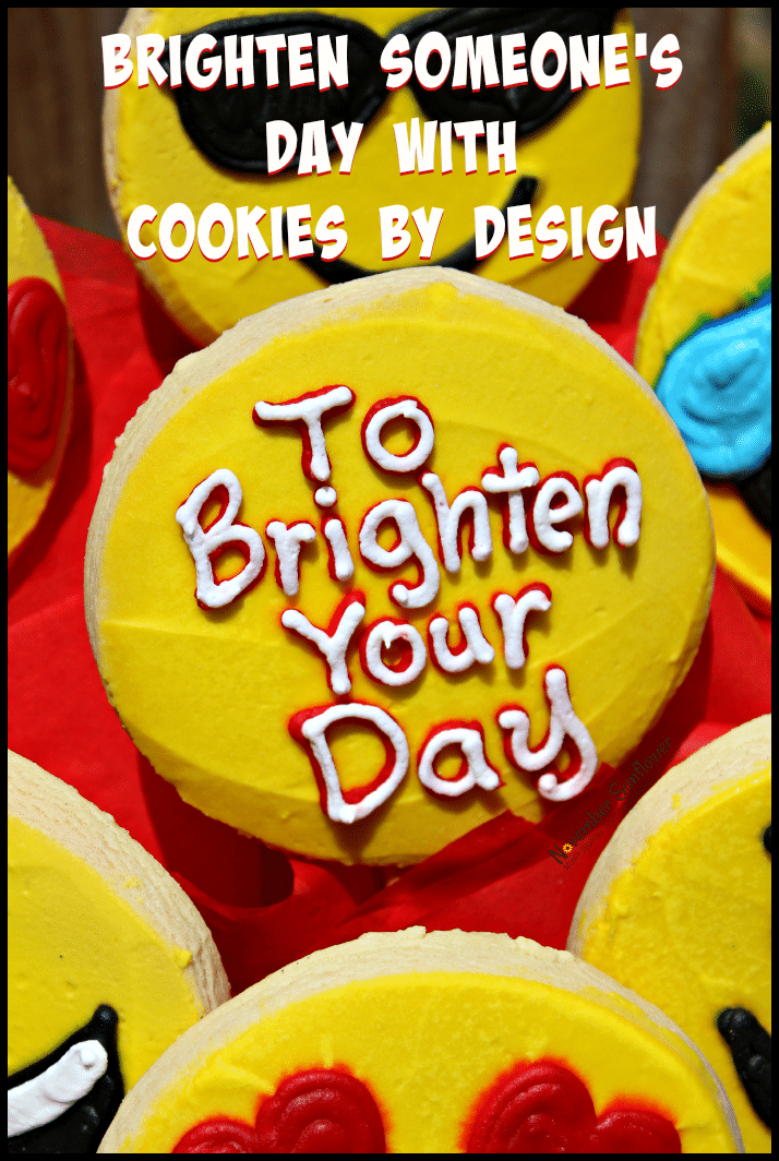 Brighten Someone's Day with Cookies By Design #cookiesbydesign #personalizedgifts #foodgifts #sponsored