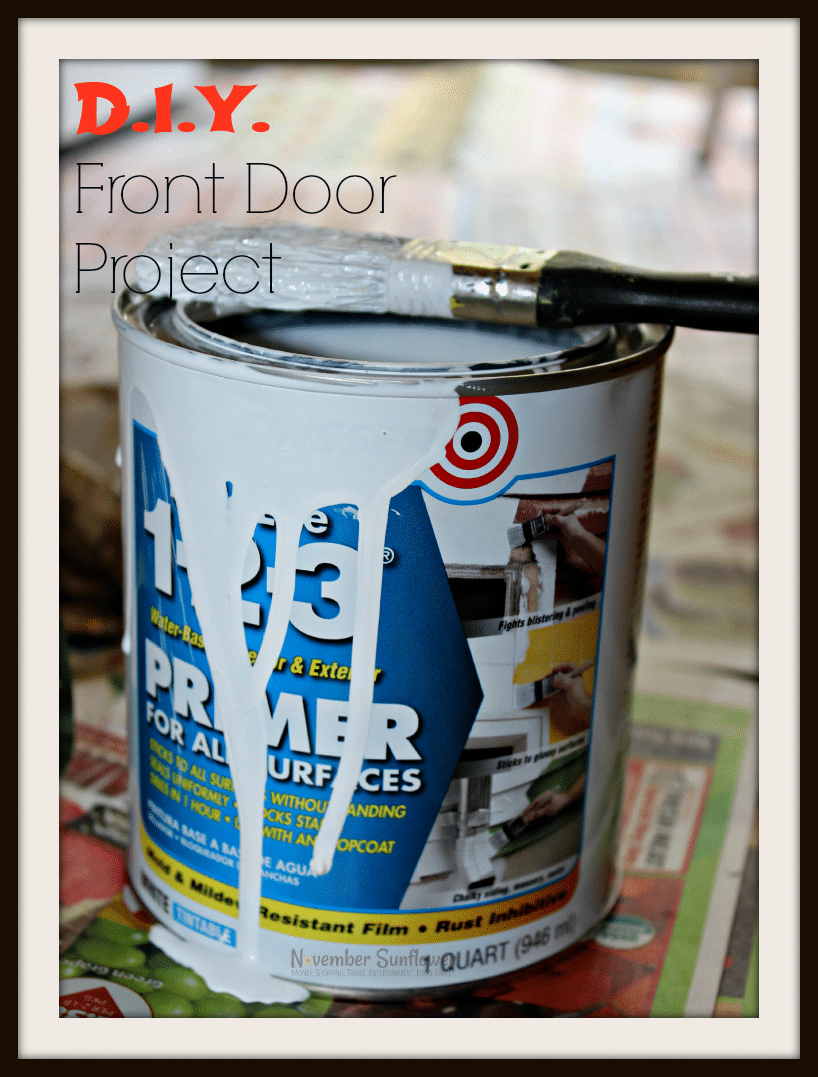 DIY Front Door Project #DIYProject #HomeImprovement [sponsored]