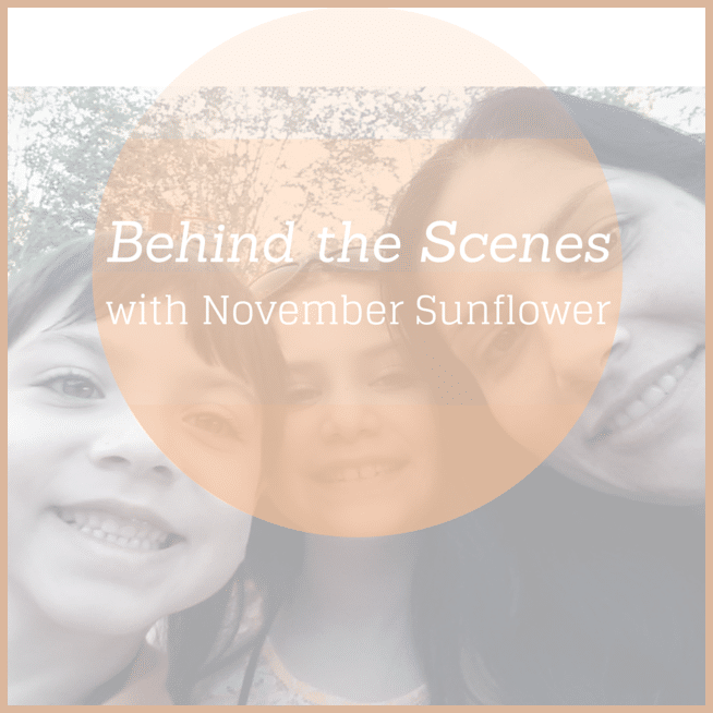Behind the scenes with November Sunflower #behindthescenes #business