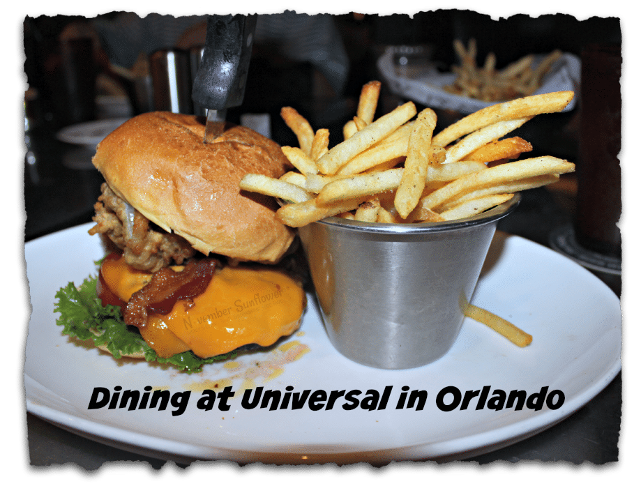 Dining at Universal in Orlando #universalmoments #universaldining #charactersatuniversal #familyvacation #universalvacation [ad]