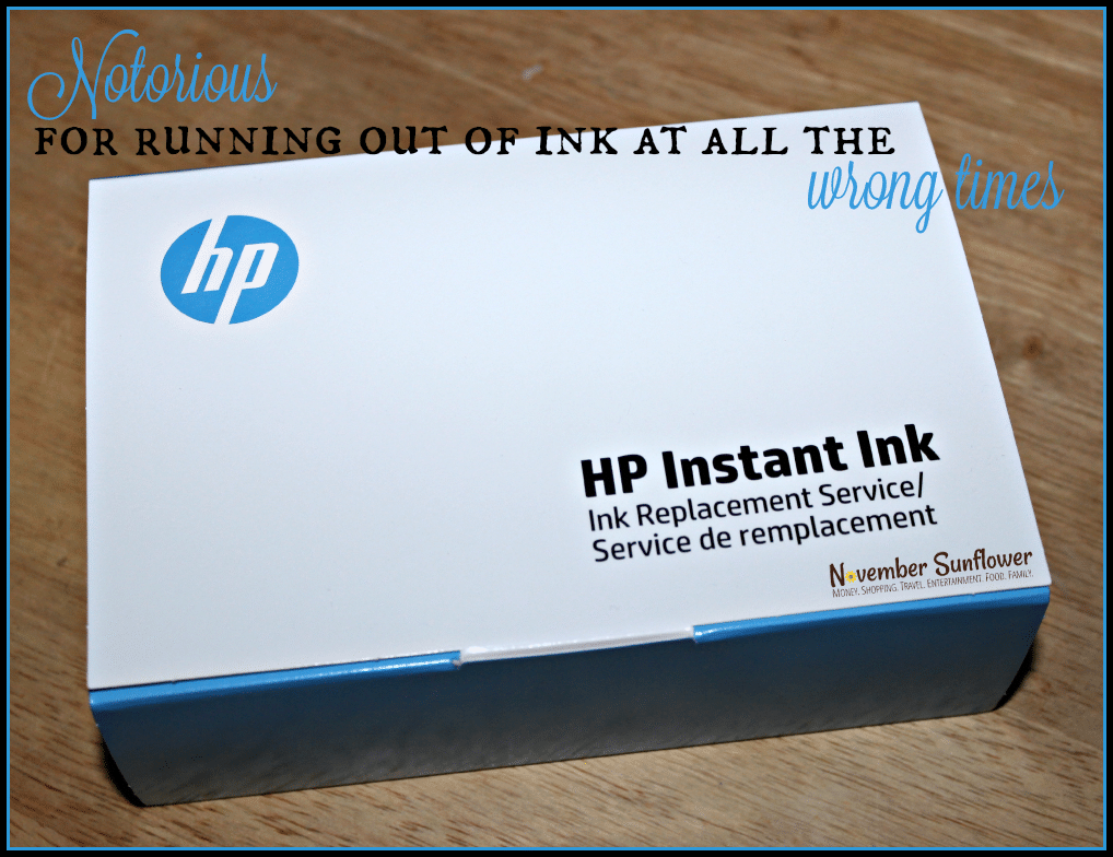 Notorious for running out of ink at all the wrong times #HPInstantInk #HPMomPanel [ad]