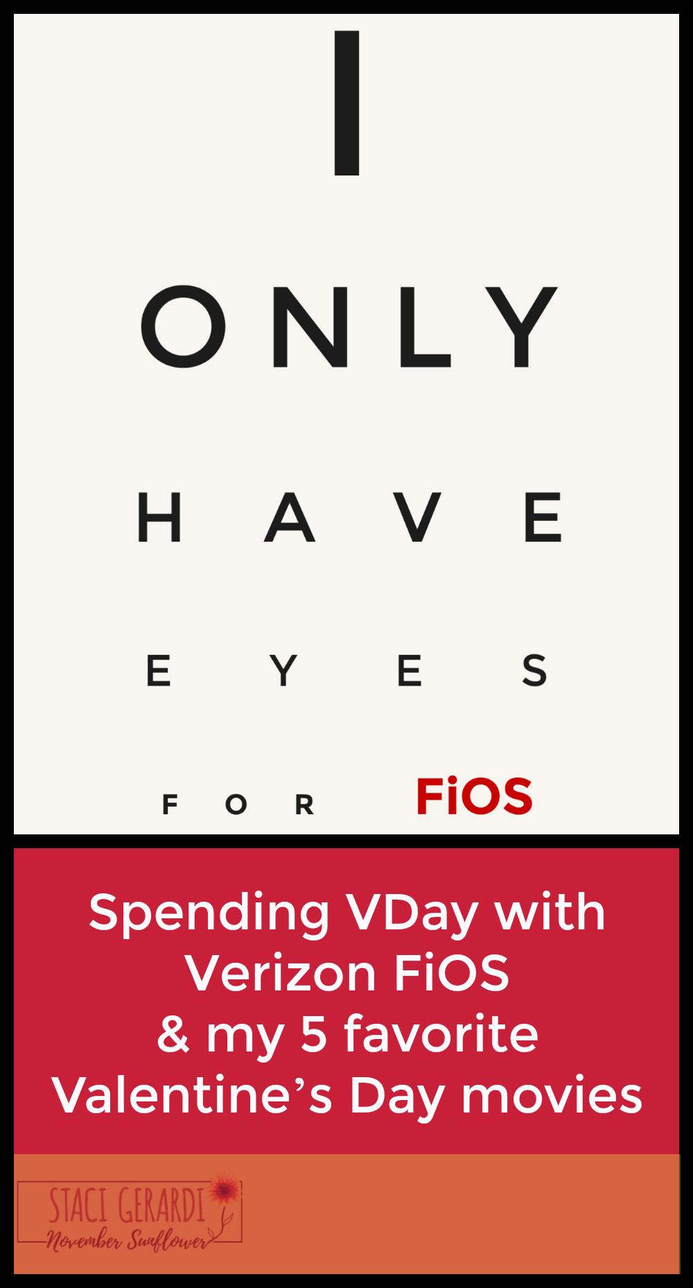 Spending VDay with Verizon FiOS & my 5 favorite Valentine's Day movies