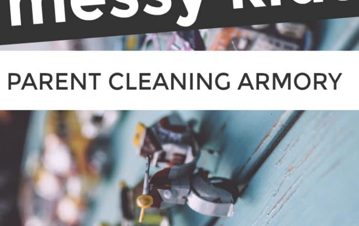 messy kids parent cleaning armory