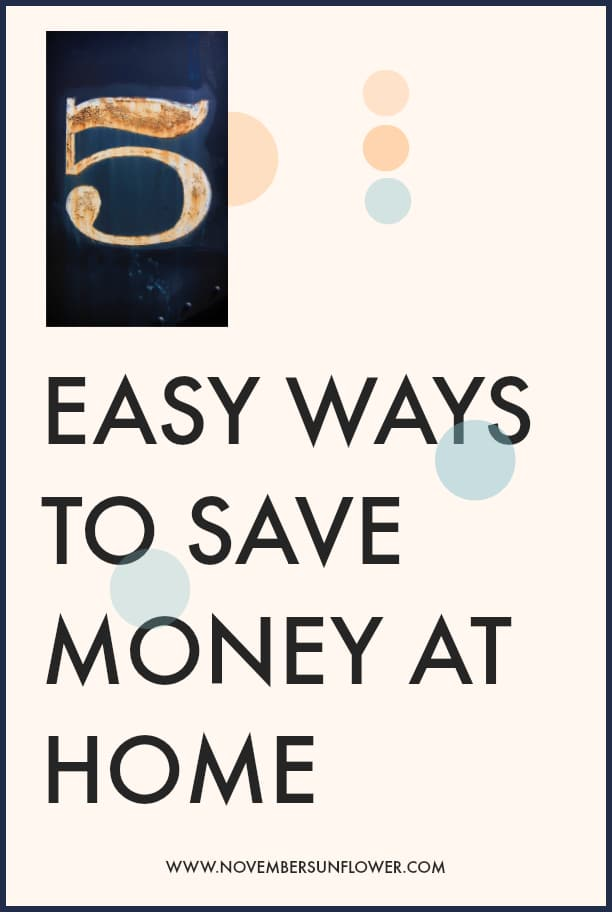 5 easy ways to save money at home