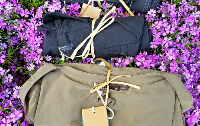 packing prAna in my travel bag