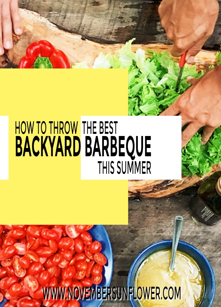 Prepping food for a Backyard Barbecue