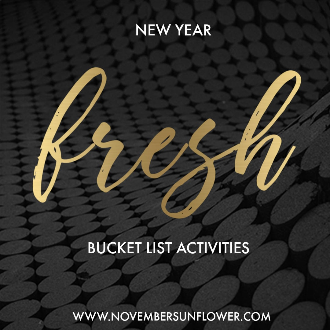 bucket list activities for the new year