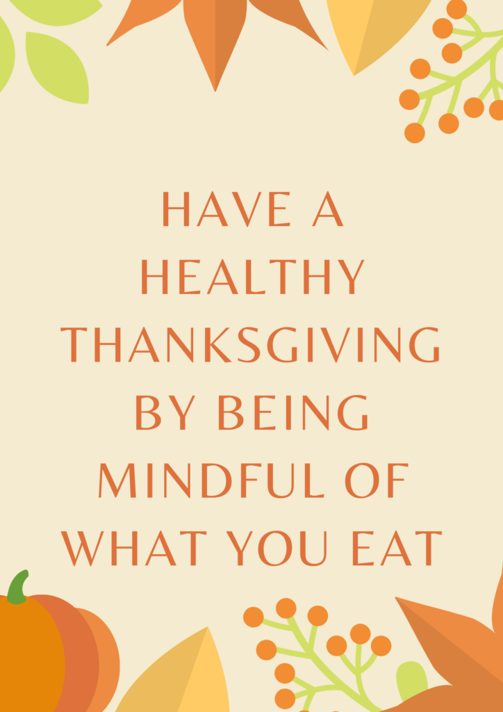 healthy thanksgiving through mindful eating