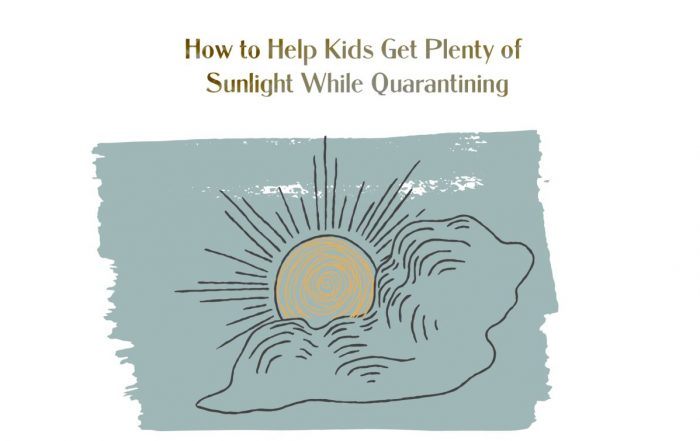 kids get plenty of sunlight while quarantining