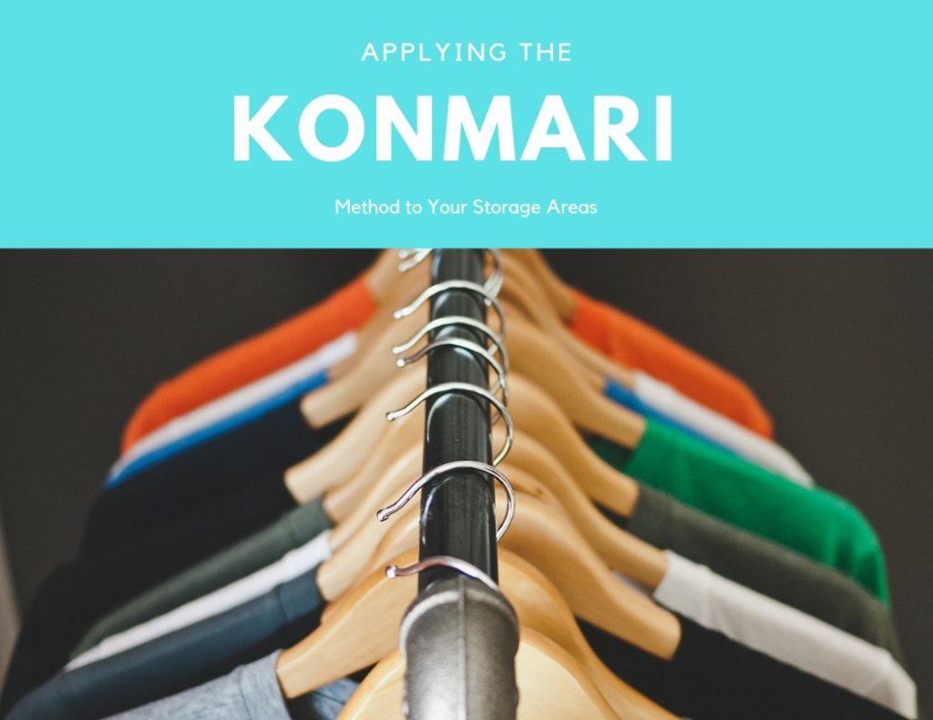 KonMari Method of organizing storage areas