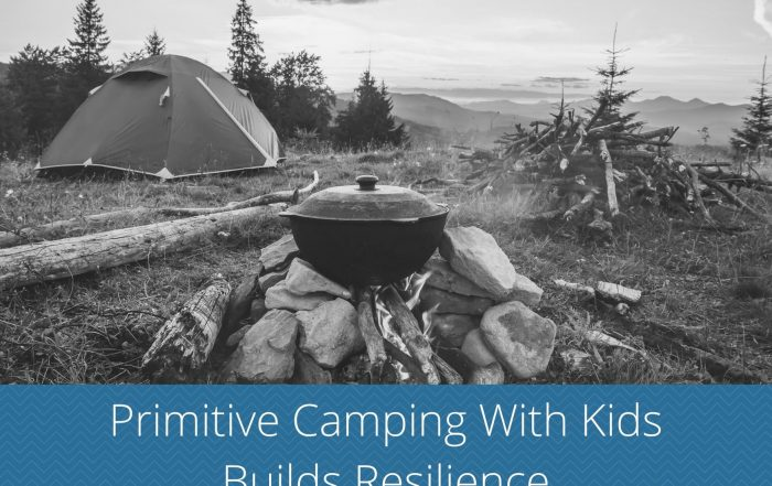 primitive camping with kids