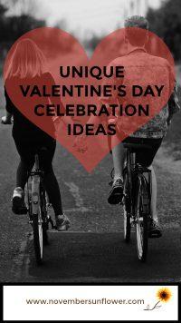 Happy Couple Riding bikes Unique Valentine's Day Celebration